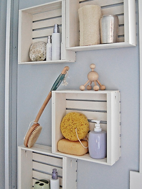 Bathroom Cubby Organization